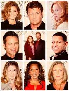 Castle cast: Stana Katic, Nathan Fillion, Molly Quinn, Seamus Dever, Andrew Marlowe and Terri Edda Miller, Jon Huertas, Juliana Dever, Penny Johnson Jerald, and Susan Sullivan.