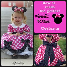 Free tutorial from Patternrevolution.com! Add a Peter pan collar and a Minnie cut out for an awesome Minnie Mouse costume! You want this one for your next Disney trip or maybe even this Halloween!
