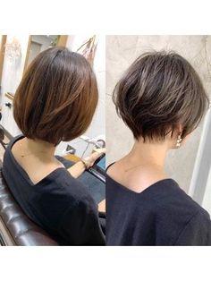 Short Hair Back, Asian Short Hair, Short Hairstyles For Thick Hair, Short Hair With Layers, Short Hair Cuts For Women, Japanese Short Hair, Medium Hair Styles, Curly Hair Styles, Shot Hair Styles