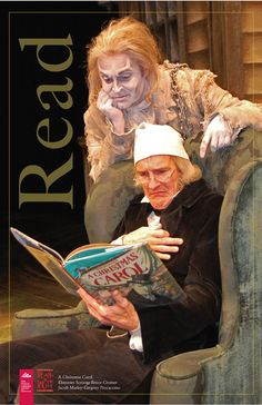 Love this poster! Scrooge and Marley's ghost are reading A Christmas Carol. I Love Books, Good Books, Books To Read, Dickens Christmas Carol, Jacob Marley, Book Review Sites, Celebrities Reading, Reading Posters, Ghost Of Christmas Past