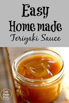 This is an awesome easy homemade teriyaki sauce!