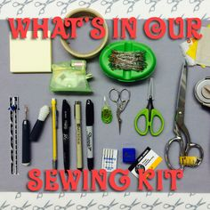 What's in our sewing kit - Right Sides Together