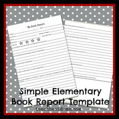 Printable Book Report Forms Easy Book Report Form For Young