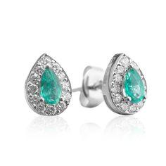 Cercei cu smarald si diamante C614