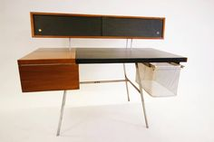 Early George Nelson for Herman Miller Home Desk   From a unique collection of antique and modern desks at https://www.1stdibs.com/furniture/storage-case-pieces/desks/