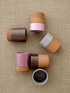 Stoneware mugs, rose. ©Bloomingville