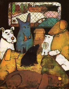 Image result for naive dog illustration