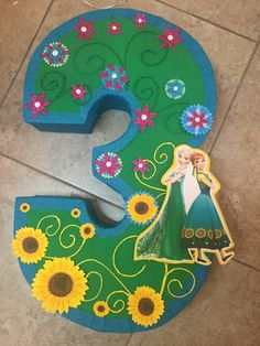 Frozen fever themed piñata. Frozen fever number pinata. by aldimyshop on Etsy https://www.etsy.com/listing/287872121/frozen-fever-themed-pinata-frozen-fever