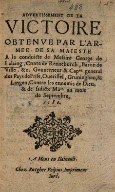 Advertissement de la victoire obtenve par l'armee de sa Maiesté à la ... - Google Books