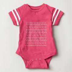 Monogram Initial Pattern Letter C in White Baby Bodysuit - patterns pattern special unique design gift idea diy