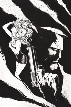 Sin City (Frank Miller) commission. Art by Joelle Jones #joellejones