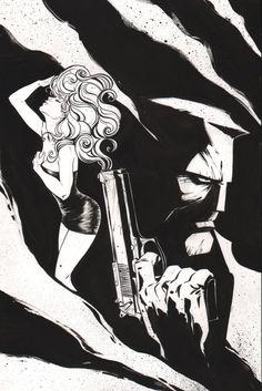 Sin City (Frank Miller) commission. Art by Joelle Jones #joellejones