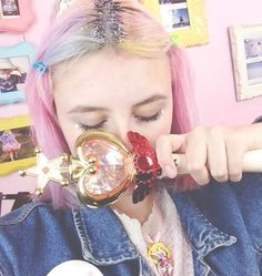 ⭐️⭐️ #pixielocks #magicalgirl #sailormoon #glitterroots #pastelhair #multicolorhair