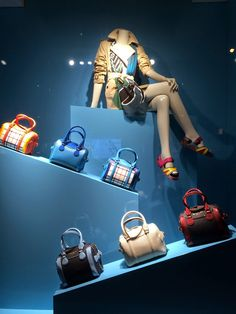 """BURBERRY, New York, """"Approaching fashion from a different angle"""", photo by Step into the Window, pinned by Ton van der Veer"""