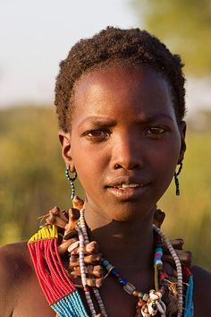Africa | Hamar girl near Turmi. Omo Valley, Ethiopia
