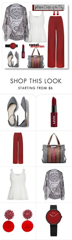 """""""Outfit of the Day - 4-27 Plus"""" by maryfromnewengland ❤ liked on Polyvore featuring Gap, NYX, WearAll, CORNICI, Marni, Petit Bateau, WorkWear, outfitoftheday and plussize"""