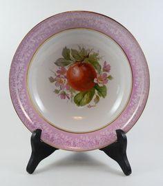 "Vintage Serving Bowl 9"" Violet Pink Semi Vitreous Potters Co-operative Co."