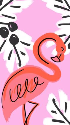 Fun Flamingo Friend Tech Wallpaper via Love. Flamingo Wallpaper, Wallpaper Iphone Cute, Cute Wallpapers, Wallpaper Backgrounds, Iphone Wallpapers, Whats Wallpaper, Illustrations, Illustration Art, Pixel