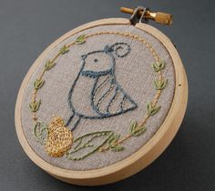 Embroidery Patterns, FESTIVE FLOCK Holiday hand embroidery patterns. $4.00, via Etsy.
