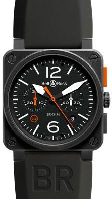 BR 03-4 Carbon Orange Limited Edition watch by Bell & Ross