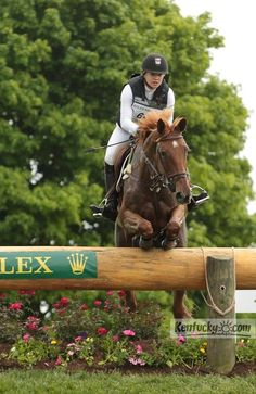 Cross-country event at Rolex Three-Day Event, #Kentucky Horse Park Marilyn Little-Meredith