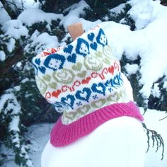 Mini Dolls Design Knitted Fairisle neck warmer by clovaknits, $69.00