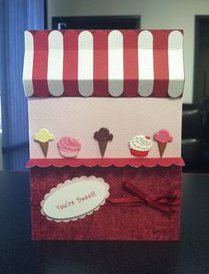 """Ice Cream Parlor Card :) If you click on FB.com below you can visit and """"LIKE"""" my business page...I do sell Card Kits Monthly, and can get them mailed out to you :) Message me for details if interested. I have sent out many kits throughout the U.S. :)"""