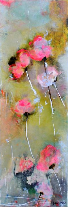 """What Dreams May Come"", Mixed Media on Canvas, 36x12"", by Emilija Pasagic at Crescent Hill Gallery in Mississauga, ON"
