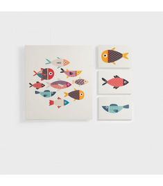 Buy a Fish Collection canvas set from South Africa's largest online furniture store. Wide range of kids wall art available, nationwide delivery! Kids Canvas Art, Art Wall Kids, Art For Kids, Wall Art For Sale, Beach Kids, Online Furniture Stores, Picture Tag, All Pictures, Fish