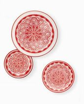 Red plates ♥ amberlair.com #Boutiquehotel #travel #hotel