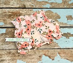 Baby Girls Blush Floral Bloomers, High Waist Bloomers, Toddlers, Newborns · Needles Knots n Bows · Online Store Powered by Storenvy Fabric Bow Headband, Fabric Bows, Baby Girls, Toddler Girl, Bohemian Style Clothing, Style Clothes, Boho Style, Milestone Pictures, Girls Coming Home Outfit