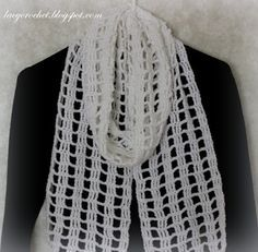 Lacy Crochet: Quick and Easy Crochet Scarf, my free pattern