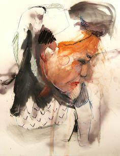 """Lou Ros; Pastel 2011 Drawing """"RT2"""""""