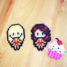 #perler #perlerbeads #hama #hamabeads #2brokegirls #handmade #max #caroline #katdennings #bethbehrs #cupcakes #cupcake