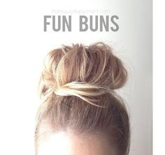 A cute, messy updo for anyone trying to grow out their bangs...