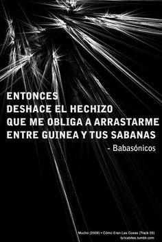 Cómo Eran Las Cosas #Babasonicos #Lyrics #LyricsBites