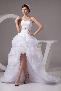 elegant paillette wasiline asymmetrical sweetheart neckline wedding dress