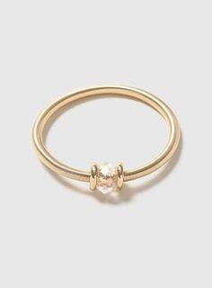 Gold Facet Spring Bracelet