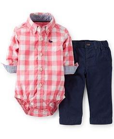 Carter's Baby Boys' 2-Piece Bodysuit & Pants Set