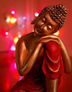 """""""No self. No problem,"""" said the Buddhist Master when asked to explain the deeper meaning of Buddhism. --Eckhart Tolle - Red Quote"""