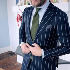 When Jason goes full bold. Would you wear this jacket with such confidence? #suit #tie #dapper #tie #ootd #pocketsquare #cool #bold #shirt #chalkstripe #menswear #colorful #style #meninsuits #blue #suitup