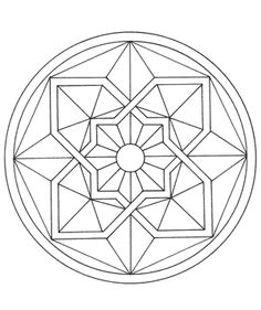 Free Coloring Page: Mandala Coloring Book, Download Free Crafts for Kids, Dover Coloring Books | MisterArt.com