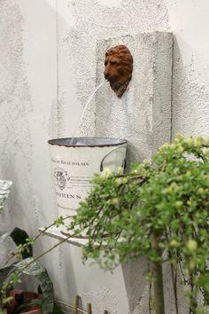 suihkulähde,parveke,romanttinen,puutarha
