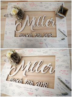 Last Name Wedding Sign - Guestbook Alternative - Custom Rustic Wedding Guest Book - Wood Wedding - Unique Trending Painted Wooden