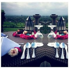 Get beautiful heritage dine on Abhayagiri Restaurant,  Jogja, Indonesia. You could see the prambanan temple and mt.merapi from above here.