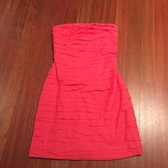 J CREW CORAL STRAPLESS BANDAGE DRESS SZ 4 Perfect condition J. Crew Dresses Strapless
