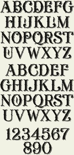 LHF General Store Shadow: An old-fashioned typeface set includes 4 different fonts: Regular, Fancy, Shadow, and Distressed. Each font includes alternate characters on the lowercase letters, designed to allow you to be creative and choose your favorite letters.