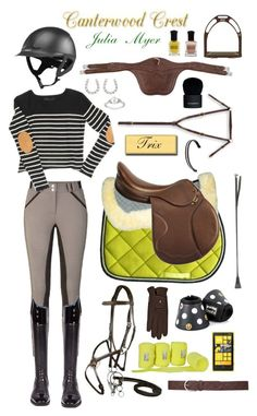 """""""Canterwood Crest: Julia Myer"""" by equine-couture ❤ liked on Polyvore featuring ANISE, Roeckl, Ileana Makri, Ice, Nokia, Deborah Lippmann, Givenchy and Novara"""