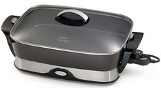 The Presto 06857 16 inch Electric Foldaway Skillet roasts, fries, grills, stews, bakes and makes one dish meals. It's on of the bestselling electric skillet Presto Electric Skillet, Electric Frying Pan, Backstreet Boys, Small Appliances, Kitchen Appliances, Cooking Appliances, Cooking Utensils, Kitchen Gadgets, Pots