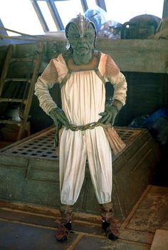 Klaatu skiff guard on Jabba's Sail Barge set.